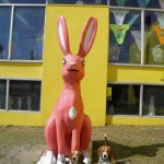 Rabbit and beagle at South of the Border