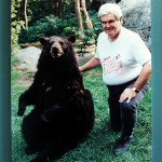 Newt and a bear named Mini, Grandfather Mountain, courtesy of zen Sutherland