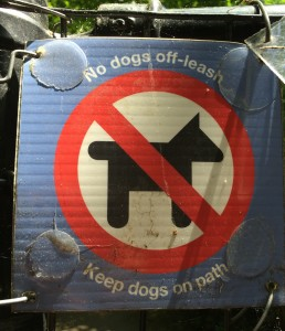 The Brooklyn Bird Club put up deliberately misleading signs throughout Prospect Park trying to keep all dogs out of wooded areas.