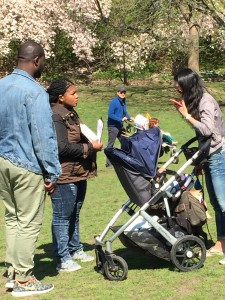 BUSTED! Cops ticket the least threatening person in the park they can find: a young mom pushing a stroller and attending a French bulldog meetup.
